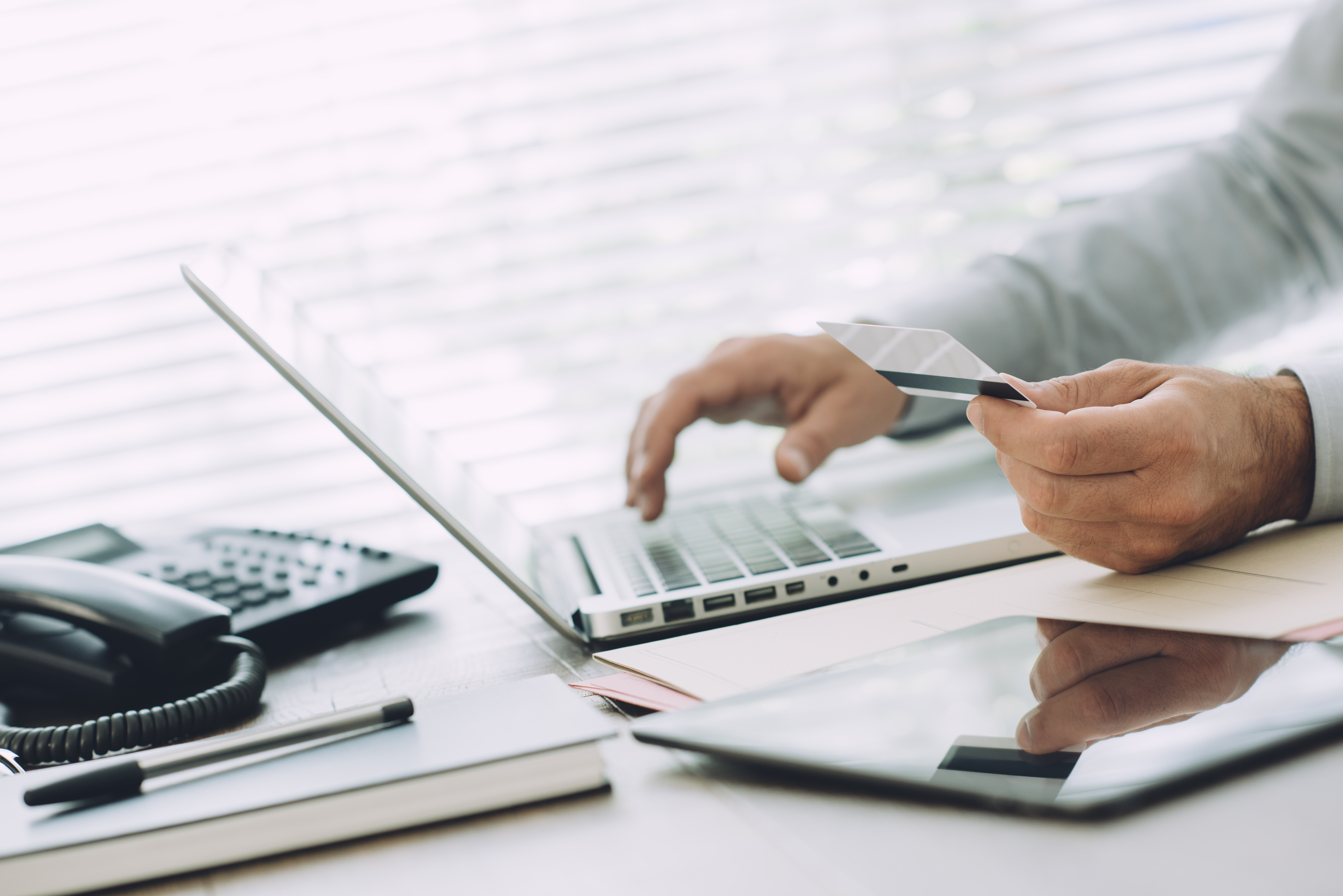 person using online banking